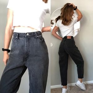 Vintage Sasson faded black high waist mom jeans